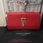 YSL Clutch Yves Saint Laurent สีแดง