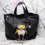 กระเป๋า Fashion นำเข้าเกาหลี แบบของ Prada ทรงshopping bag รุ่นRobot