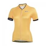 **พรีออเดอร์** เสื้อปั่นจักรยานผู้หญิงแขนสั้น pokka dot สีเหลืองจุดเล็ก