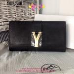 YSL Clutch สีดำ