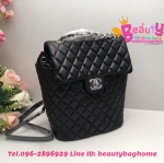 Chanel backpack สีดำ งานHiend