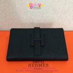 Hermes Jige Portfolio Clutch สีดำ