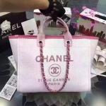 Chanel Jeans Shopping bag สีชมพู งานHiend1:1