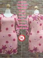 XL131 ชุดเดรสผ้าลูกไม้เนื้อดี สีชมพู ทอลายสวยงามเล่นสีสวยมากค่ะ แขนสามส่วน ใส่เข้ารูปทรงสวยงามดค่ะ