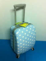 กระเป๋าเดินทางล้อลาก PC 16 นิ้ว สีฟ้า ลายจุด Polka Dot