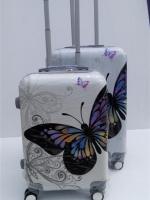 กระเป๋าเดินทาง ลายผีเสื้อขาว ขนาด 24 นิ้ว