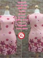 XL130 ชุดเดรสผ้าลูกไม้เนื้อดี สีชมพู ทอลายสวยงามเล่นสีสวยมากค่ะ ใส่เข้ารูปทรงสวยงามดค่ะ