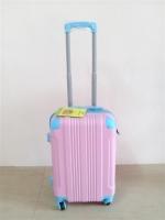 กระเป๋าเดินทาง ล้อลาก ขนาด 20 นิ้ว สีชมพูมุมฟ้า