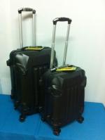 กระเป๋าเดินทางไฟเบอร์ รุ่นรถถังสีดำ ขนาด 24 นิ้ว