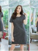 3 Size= M,L,XL เดรสผ้า POLYESTERเป็นผ้าแบบยืด เนื้อกำมะหยี่ ผ้านิ่มลื่นมากๆแนะนำเลยค่ะชุดนี้ สีออกโทนดำเทา ใส่สวย