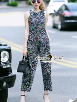 Seoul Secret Say's... Butterfly Curve Out Stick Smutty Print Playsuit