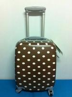 กระเป๋าเดินทางไซส์ 16 นิ้ว ลายจุด สีน้ำตาล น้ำหนักเบา แข็งแรงทนทาน