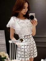Seoul Secret Say's... Princessly Ornamental Lace Playsuit