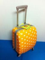 กระเป๋าเดินทางล้อลาก PC 16 นิ้ว ลายจุด Polka Dot สีส้ม