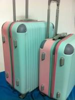 กระเป๋าเดินทาง 24 นิ้ว สีฟ้าชมพู ทูโทน