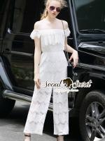 Seoul Secret Say's... Olivier Open Shoulder Lace Playsuit