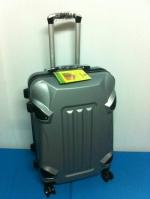 กระเป๋าเดินทางไฟเบอร์ รุ่นรถถังสีเทา ขนาด 24 นิ้ว