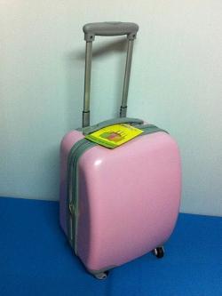 กระเป๋าเดินทางล้อลาก 16 นิ้ว 4 ล้อ สีชมพูอ่อน