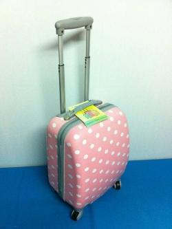 กระเป๋าเดินทางไซส์ 16 นิ้ว สีชมพู Polka Dot น้ำหนักเบา แข็งแรงทนทาน