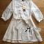 Lady Ribbon's Made Self-Portrait Insert Lace Cotton Shirt Dress with Ribbon thumbnail 5