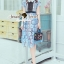 Seoul Secret Say's .... Baby Blue Flora Lace Flowering Dress thumbnail 1