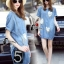 Cliona made' Denim Sweat Heart Luxury Dress thumbnail 4