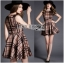 Lady Ribbon's Made Lady Cris British Elegant Check Printed Beige Dress สีเบจ thumbnail 4