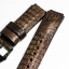Brown Genuine Leather Horn Black Crocodile Leather Watch Strap Pam Buckle 24/20 mm thumbnail 5