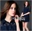 Lady Ribbon's Made Lady Jenette Smart Sexy Insert Lace Denim Shirt Dress thumbnail 3