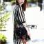 Lady Ribbon's Made Lady Marina Striped and Floral Printed Chiffon Shirt Dress thumbnail 3
