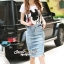 Seoul Secret Say's... Doggy Sequinny Chic Denim Skirt Set thumbnail 4