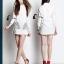 Cliona made' Inca Luxury Long Sleeves Shirt Mini Dress thumbnail 3