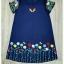 Sweet Bunny Present... Embroidered Swan floral Dress สีกรมท่า thumbnail 5