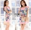 Lady Ribbon's Made Lady Hannah Playful Owl Printed Shift Dress in Pink thumbnail 2