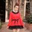 เสื้อแฟชั่น แขนยาว สีดำ รหัส 43936-แดง thumbnail 8