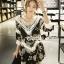 Seoul Secret Say's... Knitty Black Laf Beachy Dress thumbnail 1