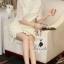 Korea Design By Lavida elegant see through daisy floral white lace dress thumbnail 3
