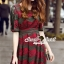 Seoul Secret Say's...Emerald Green Coral Red Layer Lace Dress thumbnail 4