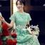 Seoul Secret Say's... Luxy Princess Lace Maxi Dress สีเขียว thumbnail 3