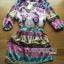 Lady Ribbon's Made Lady Florence Hippie Chic Printed Satin Dress thumbnail 5