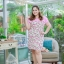 3 Size= XL,3XL,5XL ชุดเดรสสาวอวบ++ผ้า Sanfox พื้นขาว ทอลายดอกชมพู จุดเด่นของชุดนี้ตัดต่อด้านบน และแขนด้วยผ้า Hanako สีชมพู thumbnail 9