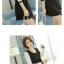 V-4-L0143-ดำ ชุุดเดรสทำงานสีดำ แขนยาวเย็บผ้าสีขาว คอวี เอวเข้ารูป สวยน่ารัก thumbnail 2