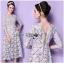 Lady Ribbon's Made Self-Portrait Feminine Guipure Lace with Tonal Lace Trims Dress thumbnail 3