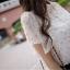 เสื้อทำงานแฟชั่น แขนสั้นระบาย สีขาว รหัส 71714 thumbnail 3