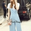 Sweet Bunny Present... Blue bandeau pleat jumpsuit set thumbnail 5