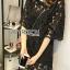 Lady Ribbon's Made Lady Delphina Classic Minimal Guipure Lace Dress สีดำ thumbnail 2