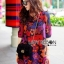 Lady Ribbon's Made Lady Jennifer Summery Vivid Color Graphic Printed Dress thumbnail 4