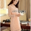 Lady Ribbon's Made Lady Nara Classic Striped High-Neck Lace Dress สีชมพู thumbnail 3