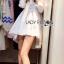 Lady Ribbon's Made Lady Jane Feminine Asymmetric Peplum Cotton Shirt Dress สีขาว thumbnail 1