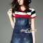 Seoul Secret Say's .... Almanda Chic Stipy Denim Dress thumbnail 1